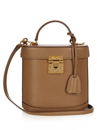 bag shoulder bag leather brown