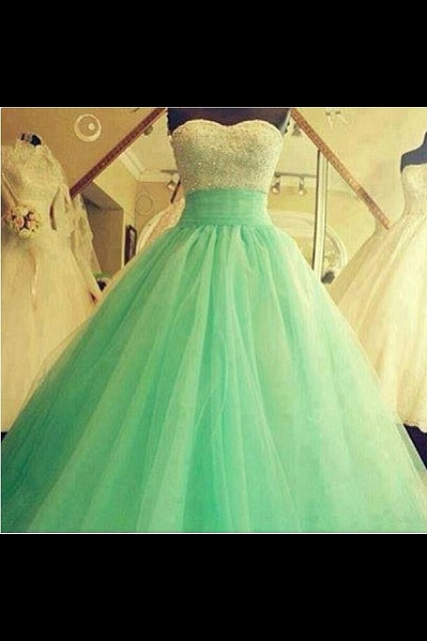 dress prom dress prom dress green big long mint princess tumblr sweetheart neckline mint a-line girly lovely blue prom blue dress prom gown