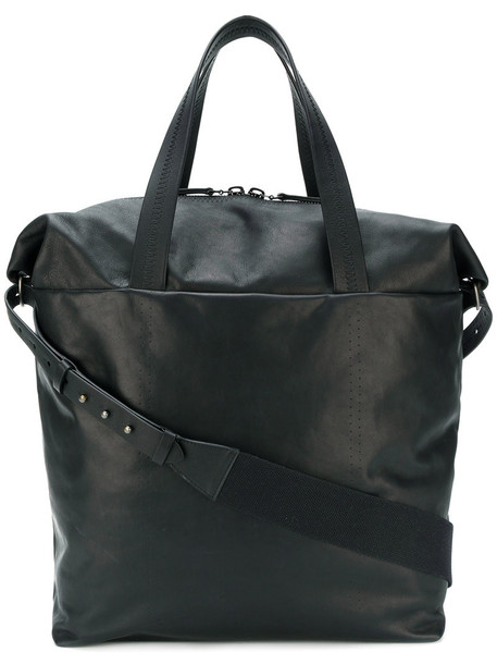 oversized women leather cotton black bag