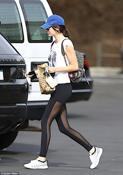 black leggings Red Lime Sunday kendall jenner sheer