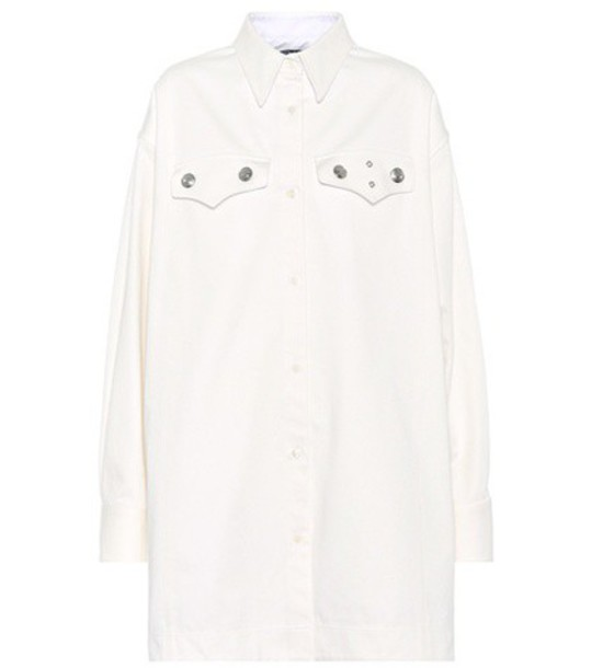 Calvin Klein 205W39NYC Studded cotton shirt in white