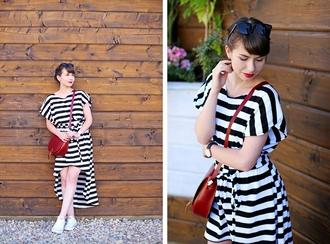 kapuczina blogger dress striped dress high low dress
