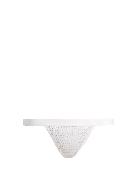 NEGATIVE UNDERWEAR thong mesh white underwear