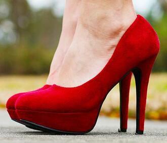 shoes red suede heels red suede heels suede heels platform heels red pumps pumps valentines day valentine valentines vday v-day valentines day gift idea