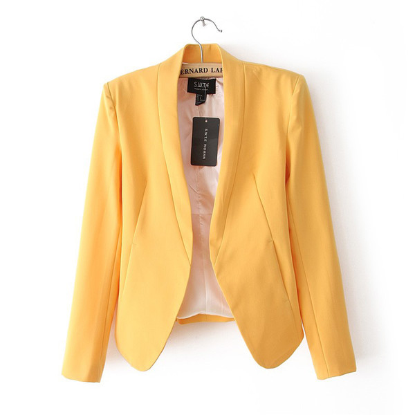 jacket blazer women's clothing women's jackets candy colours