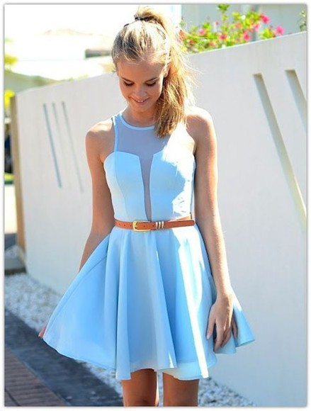 dress baby blue beautiful