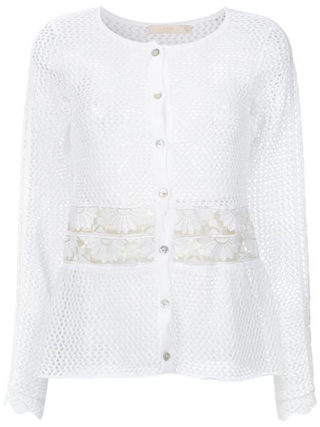 Cecilia Prado cardigan cardigan women white cotton knit sweater