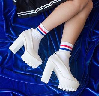 shoes heels white high heels white 90's 90's shoes skirt short skirts high heels