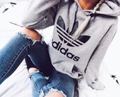sweater,adidas hoodie,grey,grey adidas,grey adidas sweats,grey adidas sweater,gray hoodie,grey hoodie,sweats,sweatshirts logo,logo,trefoil,casual,women casual,adidas women,adidas joggers,adidas top,adidas blouse,large trefoil,hot,cute,cute top,cool,preppy,pretty,musthave,sexy,gra and black,black,white,joggers,grey sweatpants,casual tumblr,tumblr,tumblr outfit,fashion,style,fitness,workout,adidas,tumblr adidas sweat,workout tops