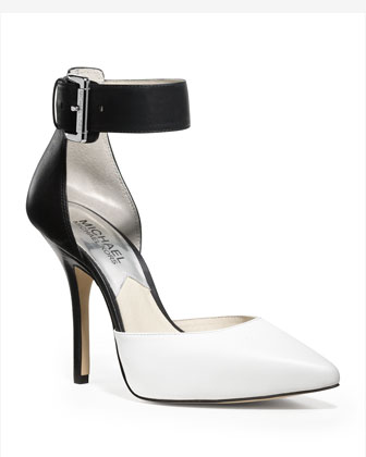 MICHAEL Michael Kors  Brinkley Two-Tone Ankle-Strap Pump - Michael Kors