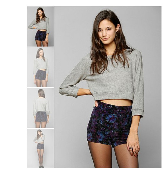 urban outfitters shorts shirt sweatshirt