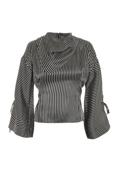 Topshop blouse black top