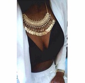 jewels,gold,gold necklace,necklace,choker necklace