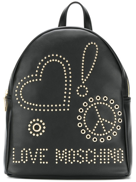 LOVE MOSCHINO women backpack black bag