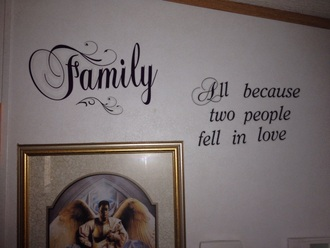 home accessory quote on it wall sticker