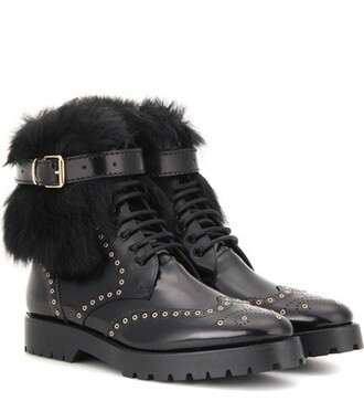 boots ankle boots leather black shoes