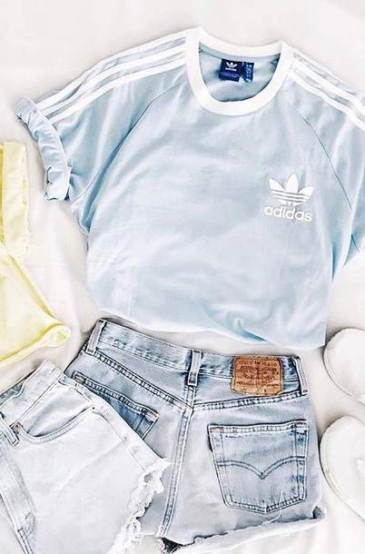 Shirt Baby Blue Adidas Baby Blue T Shirt Sportswear