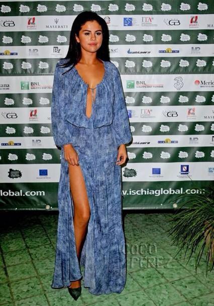 dress boho chic long sleeves floorlength