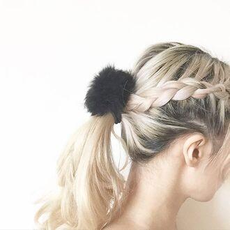 hair accessory lana para pom pom pom pom schrunchie pom pom hair