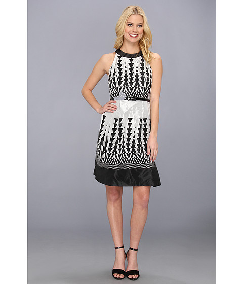 Muse Cut Out Back Girly Taffeta Dress Black/Silver - Zappos.com Free Shipping BOTH Ways