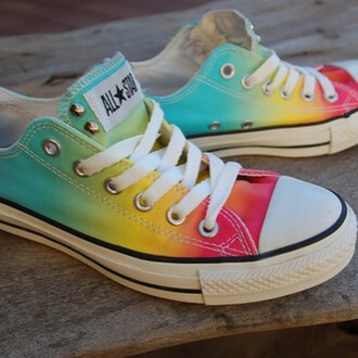 shoes rainbow converse shoes allstars converse
