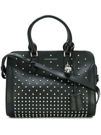studded women black bag