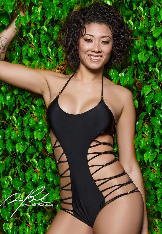 Exclusive arrival  island cut out beaded one piece by abellalamode