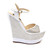 White Perferated Wedges