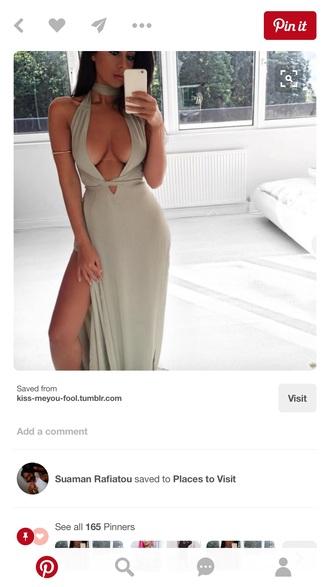 dress sexy dress plunge v neck maxi dress