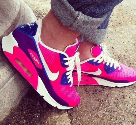 shoes white pink air max trainers sportshoes cute