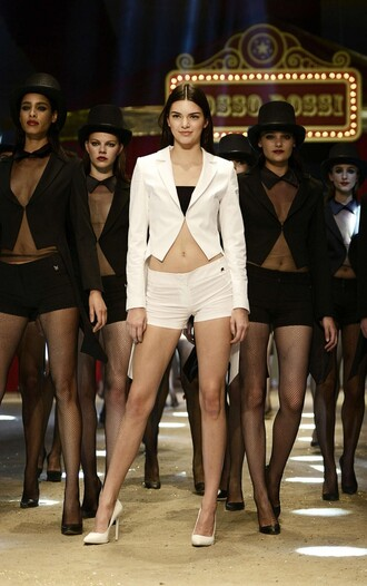 shorts top blazer pumps kendall jenner show