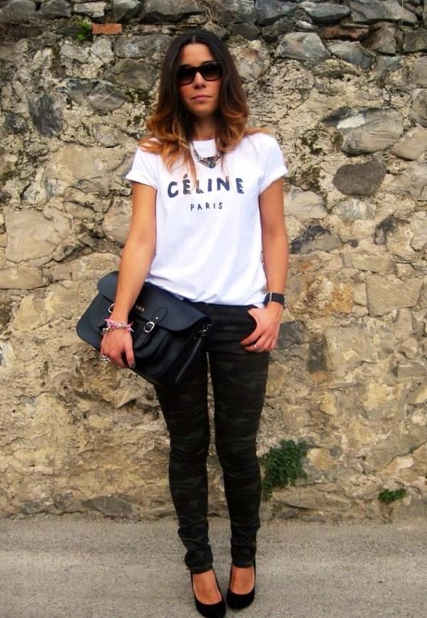 shirt celine white shirt white t-shirt hipster grunge