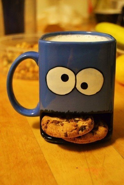 jewels cool drink cooki monster cookie t-shirt blue mug cookie monster