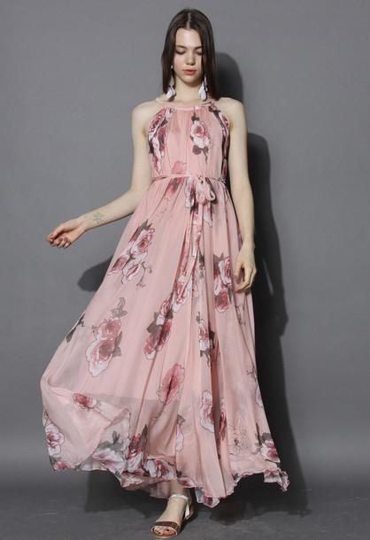 51d623ba6d dress chicwish floral dress party dress maxi dress floral maxi dress  chicwish.com beach party