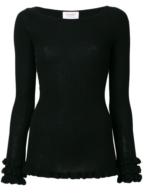 Snobby Sheep sweater women black silk