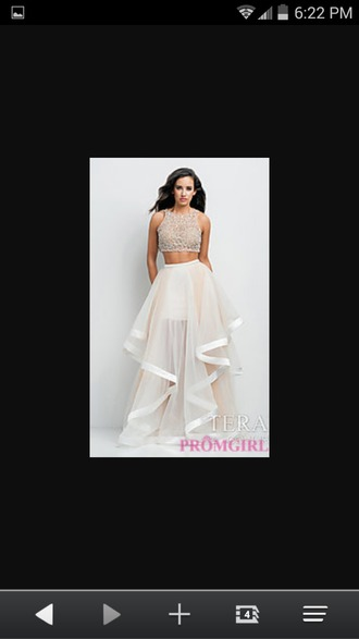 dress white 2piece dress crop tops wedding dress