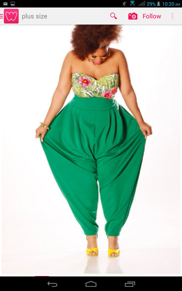 green pants parachute pants high waisted pant