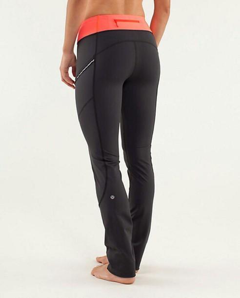 346d59035d pants black pink orange yoga pants leggings lululemon lululemon leggings  tight workout leggings
