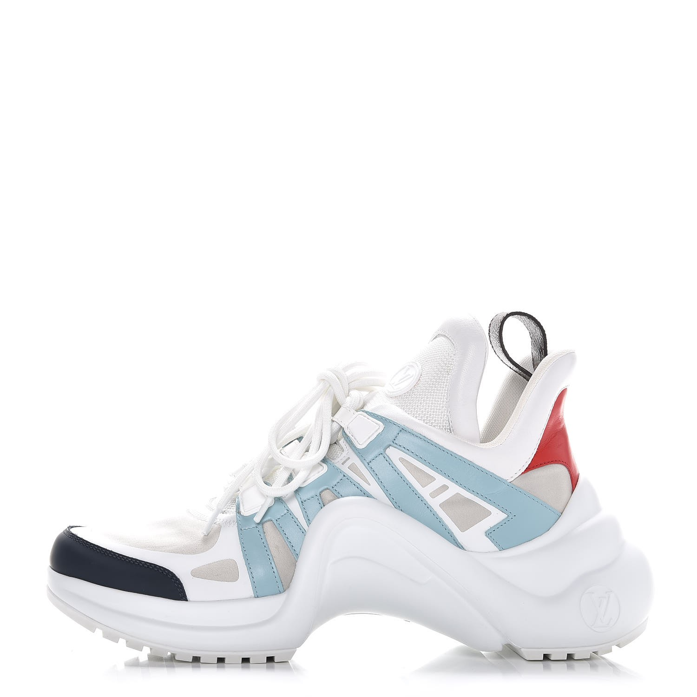 9c5620108525 LOUIS VUITTON Calfskin Technical Nylon LV Archlight Sneakers 38.5 ...