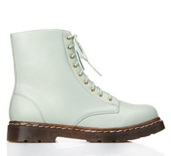 shoes boots combat boots DrMartens mint