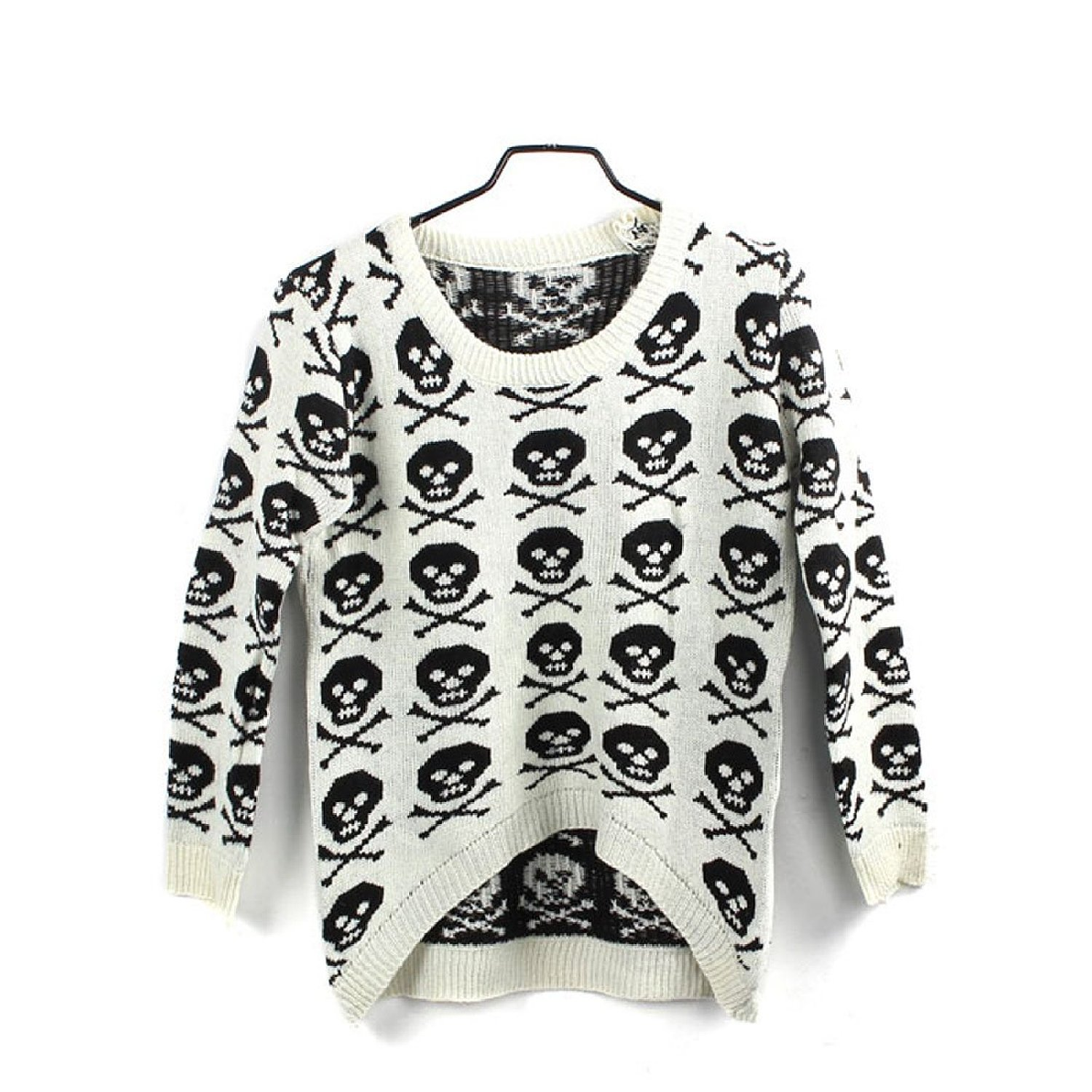 Willtoo(tm) women long sleeve knitted skull pullover tops loose sweater at amazon women's clothing store: