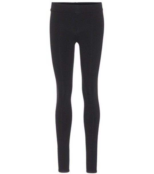 The Row Relma stretch-jersey leggings in black