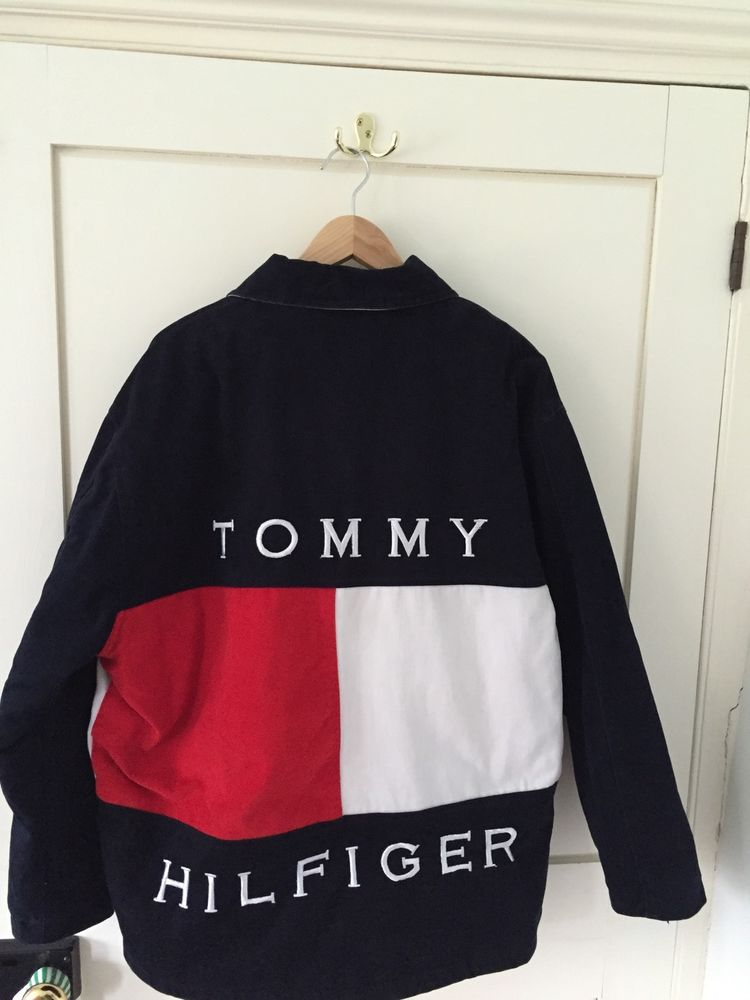 Tommy hilfiger vinatge retro quilted jacket large tommy sailing xl