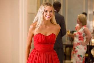 dress platinum hair red dress prom red short dress prom dress short prom dress short red prom dresses jade butter field endless love short chiffon cute movie jade butterfield blonde hair celebrity style red short dresses endless strapless beautiful gabriella wilde