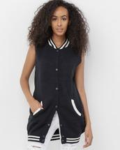 jacket,vest,varsity,varsity vest,black,black vest,black varsity,sweater vest