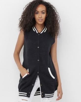 jacket vest varsity varsity vest black black vest black varsity sweater vest