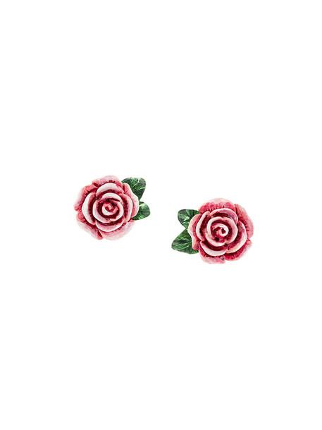 Dolce & Gabbana rose women earrings stud earrings purple pink jewels