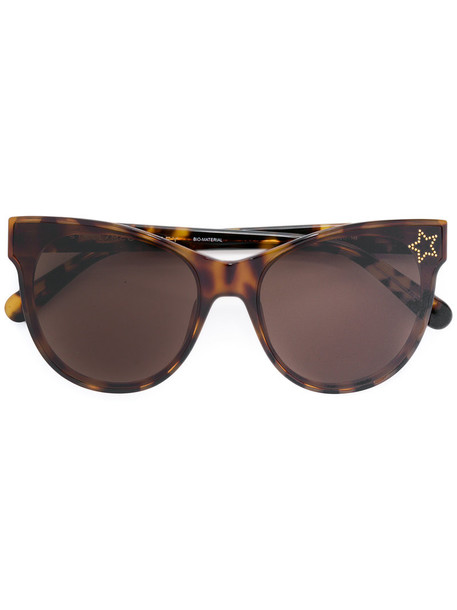 Stella Mccartney Eyewear - cat eye sunglasses - women - Acetate - 61, Brown, Acetate