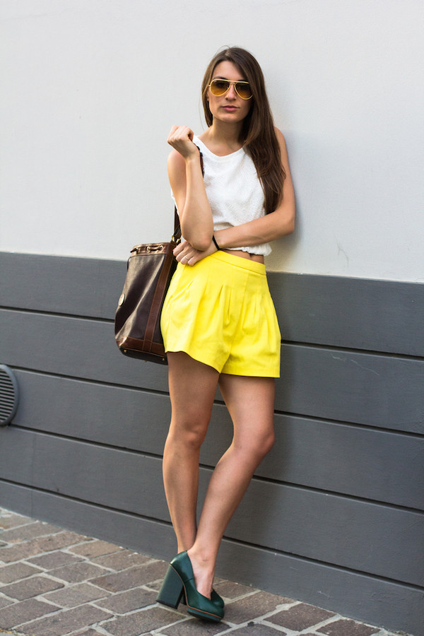 style and trouble bag shirt shorts shoes sunglasses