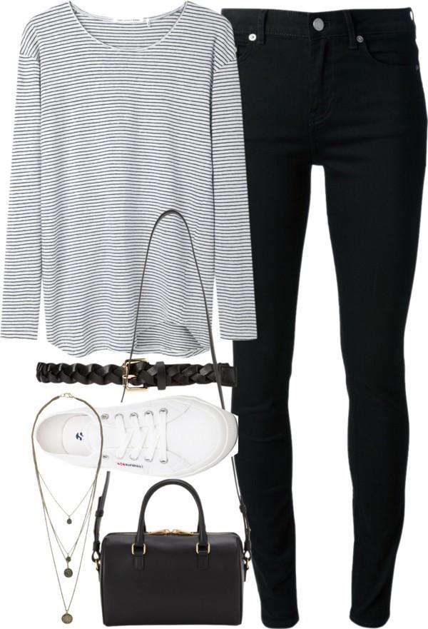 jeans jewels blouse